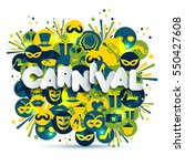bright carnival and sign... | Shutterstock . vector #550427608