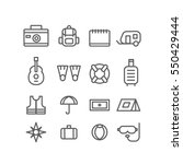 traveling and transport icons... | Shutterstock .eps vector #550429444