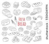 bakery fresh  bread collection...   Shutterstock .eps vector #550434994