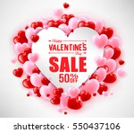 happy valentines day sale with... | Shutterstock .eps vector #550437106