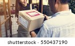 delivery courier freight... | Shutterstock . vector #550437190