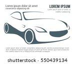 abstract car design concept... | Shutterstock .eps vector #550439134
