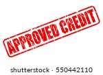 approved credit red stamp text... | Shutterstock .eps vector #550442110