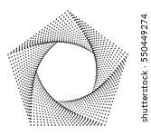 pentagon logo  geometric shape... | Shutterstock . vector #550449274