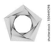 pentagon logo line art symbol ... | Shutterstock . vector #550449298