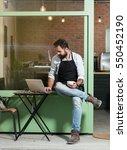 cafe owner | Shutterstock . vector #550452190