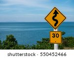 traffic sign indicating a... | Shutterstock . vector #550452466