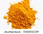 heap of turmeric. isolated on... | Shutterstock . vector #550453159