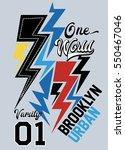 brooklyn urban  t shirt print... | Shutterstock .eps vector #550467046