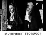Two Beautiful Sexy Nuns At Dar...