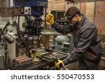 experienced operator.... | Shutterstock . vector #550470553