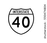 interstate highway 40 road sign ... | Shutterstock .eps vector #550474804