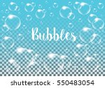 realistic vector isolated soap... | Shutterstock .eps vector #550483054
