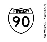 interstate highway 90 road sign ... | Shutterstock .eps vector #550488664