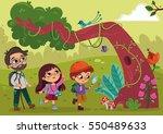 little explorer kids | Shutterstock .eps vector #550489633