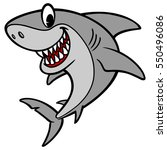shark cartoon illustration   Shutterstock .eps vector #550496086
