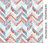 chevron seamless pattern with... | Shutterstock . vector #550496644