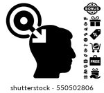 brain interface plug in... | Shutterstock .eps vector #550502806