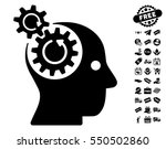 brain gears rotation pictograph ... | Shutterstock .eps vector #550502860