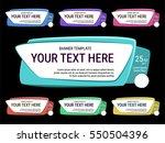 cartoon comic banner. colorful... | Shutterstock .eps vector #550504396