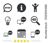 byod icons. notebook and... | Shutterstock . vector #550504480