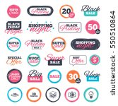 sale shopping stickers and... | Shutterstock . vector #550510864