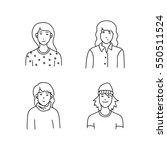 cartoon sketch people | Shutterstock .eps vector #550511524