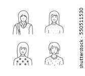 cartoon sketch people | Shutterstock .eps vector #550511530