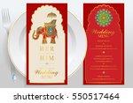 wedding menu card templates...   Shutterstock .eps vector #550517464