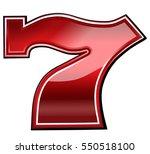 Stock vector lucky seven font for casino theme 550518100