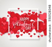 luxury elegant happy valentine... | Shutterstock .eps vector #550528348