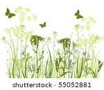 Background With Green Grass ...