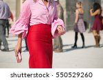 paris october 1  2015. street... | Shutterstock . vector #550529260