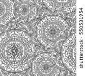 doodle pattern with ethnic... | Shutterstock .eps vector #550531954
