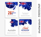 happy australia day celebration ... | Shutterstock .eps vector #550531969