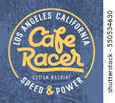 cafe racer hand drawn lettering ... | Shutterstock .eps vector #550534630