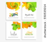 happy indian republic day... | Shutterstock .eps vector #550535014