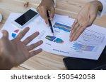 business team working on laptop ... | Shutterstock . vector #550542058