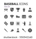 simple modern set of baseball... | Shutterstock .eps vector #550542160