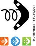 boomerang icon | Shutterstock .eps vector #550543084