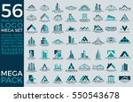 mega set and big group  real... | Shutterstock .eps vector #550543678