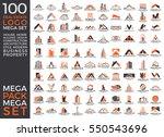 mega set and big group  real... | Shutterstock .eps vector #550543696