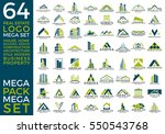 mega set and big group  real... | Shutterstock .eps vector #550543768