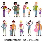 father and kids together... | Shutterstock .eps vector #550543828