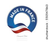 made in france flag blue color... | Shutterstock .eps vector #550547863