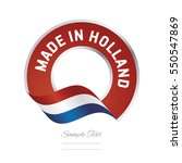 Made In Holland Flag Red Color...