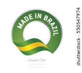 made in brazil flag green color ... | Shutterstock .eps vector #550547974