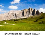 view of dolomites mountains in... | Shutterstock . vector #550548634