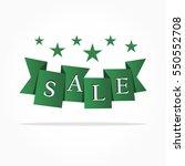 folded gradient green ribbon... | Shutterstock .eps vector #550552708