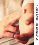 medicine health care. female... | Shutterstock . vector #550555543